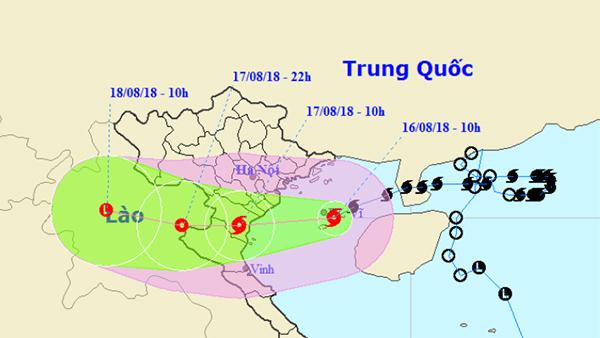 Bão số 4 tiếp tục mạnh thêm, Hà Nội mưa rất to