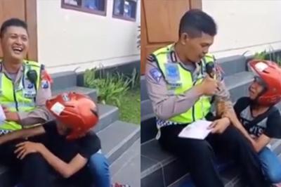 """Thanh niên """"mít ướt"""" thế này thì cảnh sát nào nỡ phạt"""