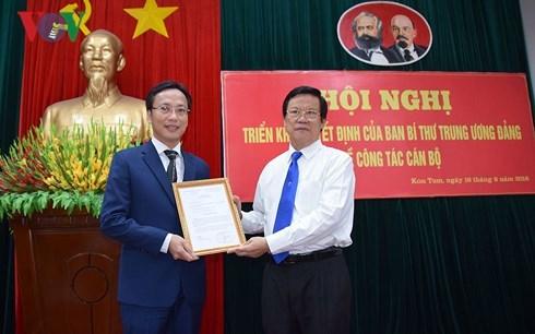 bổ nhiệm,nhân sự,Ban Bí thư,Kon Tum