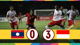 Đè bẹp U23 Lào, U23 Indonesia vẫn xếp thứ 3 bảng A