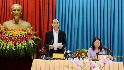 Chủ tịch nước Trần Đại Quang thăm, làm việc ở An Giang