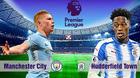 Man City 3-0 Huddersfield: Aguero lập cú đúp (H1)