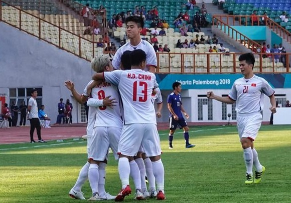 U23 Việt Nam,Vòng 1/8 Asiad 2018,U23 Nhật Bản