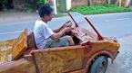 Hà Nội: 'Siêu xe' Lamborghini bằng gỗ gây xôn xao