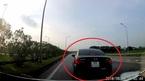 Ô tô con dừng đột ngột, suýt gây đại họa trên cao tốc Hà Nội - Thái Nguyên