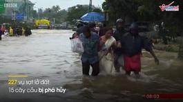 Hình ảnh nhà cửa cuốn trôi trong trận lũ khủng khiếp ở Ấn Độ