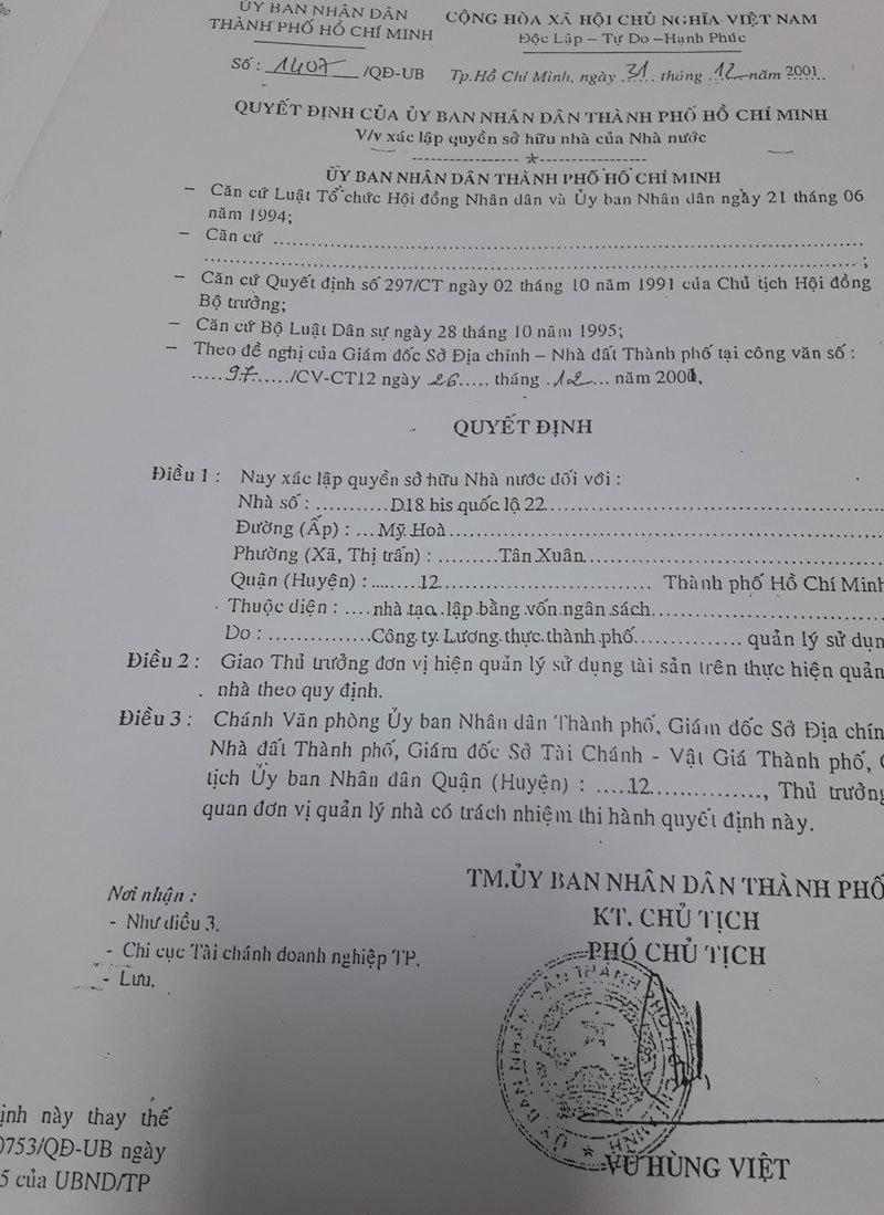 Sự thật loạt UBND quận TP. Hồ Chí Minh dính nợ xấu với DN lương thực