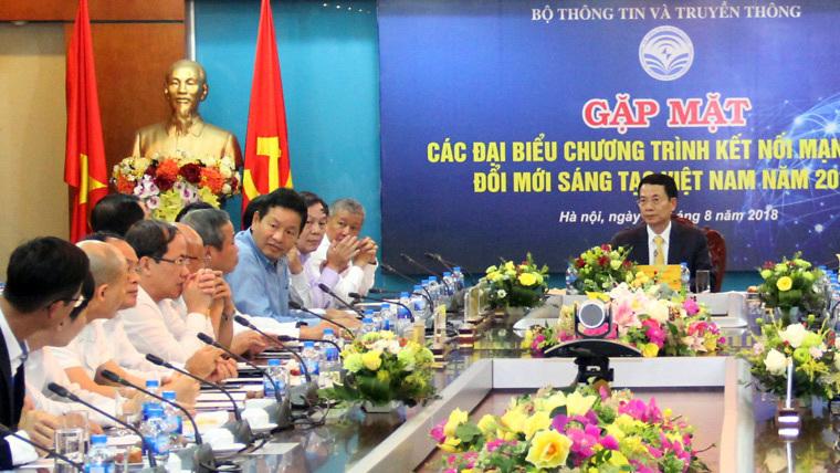 Đổi mới sáng tạo Việt Nam 2018,Bộ TT&TT,Nguyễn Mạnh Hùng