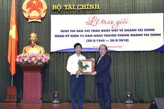 Phóng viên VietNamNet đoạt giải đặc biệt cuộc thi viết về ngành Tài chính