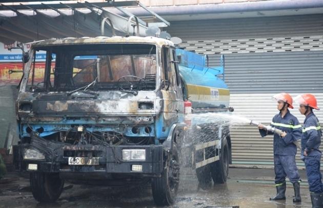 cháy xe bồn,cháy cây xăng,hỏa hoạn,Quảng Nam