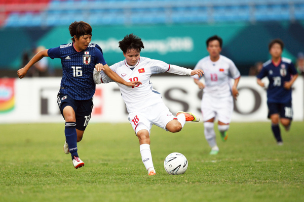Nữ Nhật Bản,Nữ việt Nam,Việt Nam vs Nhật Bản,Asiad 2018,trực tiếp bóng đá