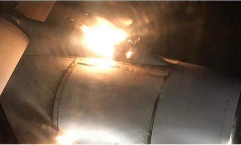 máy bay bốc cháy