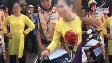 Người phụ nữ chửi bới CSGT khi bị dừng xe kiểm tra nồng độ cồn