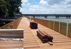 Đường đi bộ lát gỗ lim ven sông Hương chưa xong đã nứt: Lý giải của giám đốc