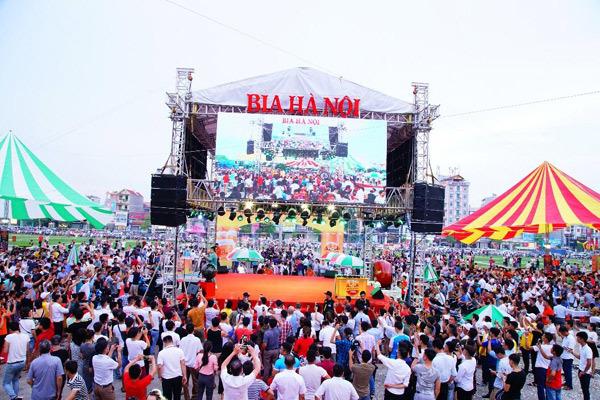 Ngày hội Bia Hà Nội ở Bắc Giang: Tưng bừng men say bằng hữu