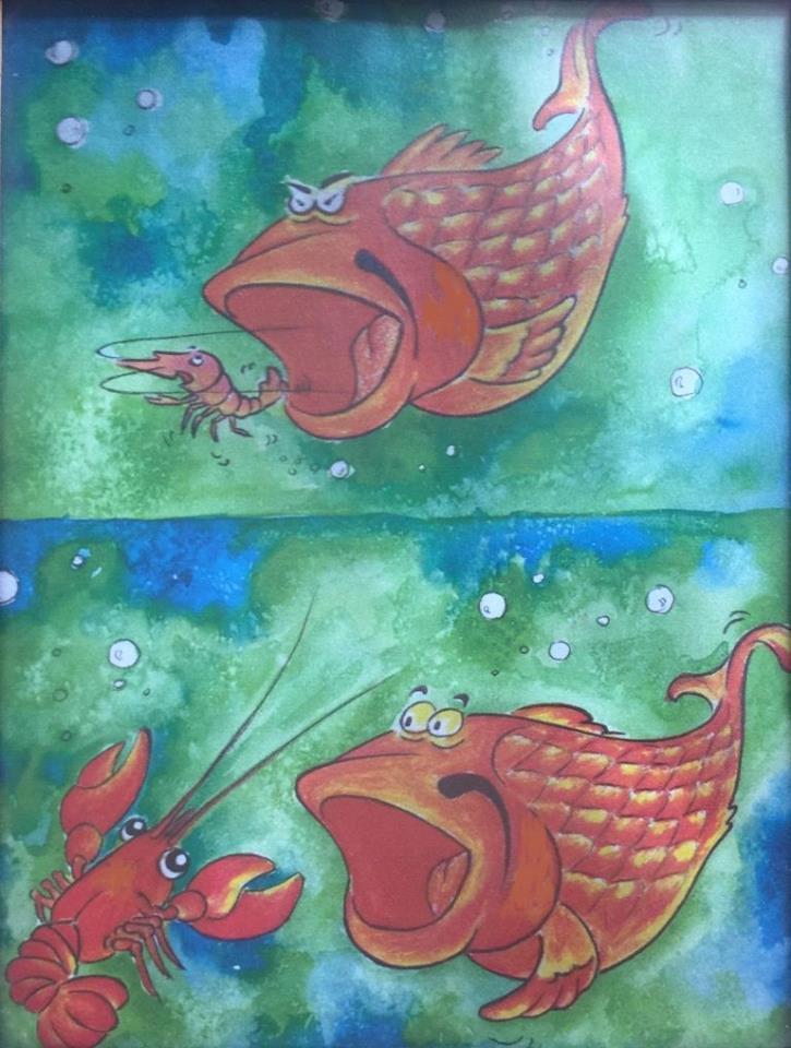 cá lớn nuốt cá bé,con tôm,con cá