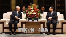 Thường trực Ban Bí thư Trần Quốc Vượng thăm tỉnh Thiểm Tây, Trung Quốc