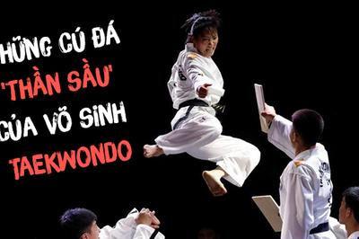 Những cú đá 'thần sầu' như phim chưởng của võ sinh Taekwondo