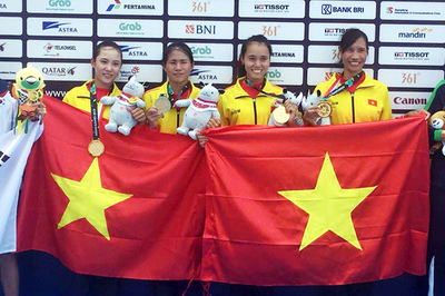 Asiad ngày 23/8: Rowing mang HCV đầu tiên cho Việt Nam