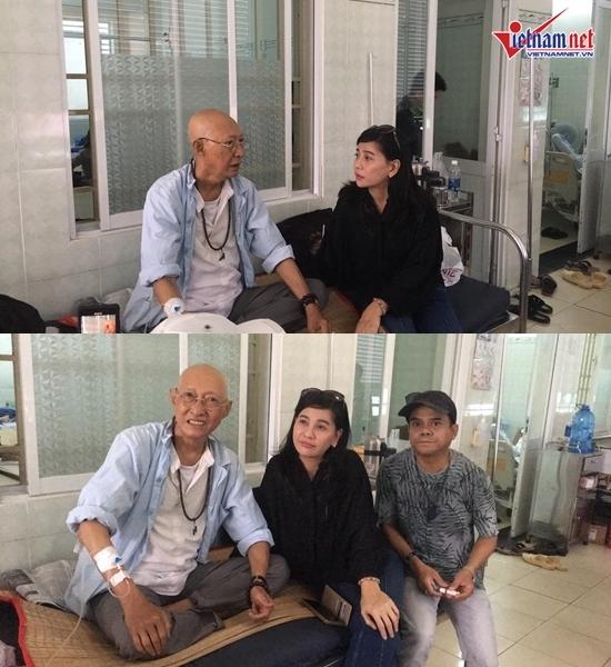 Cát Phượng vào viện thăm nghệ sĩ Lê Bình bị ung thư phổi