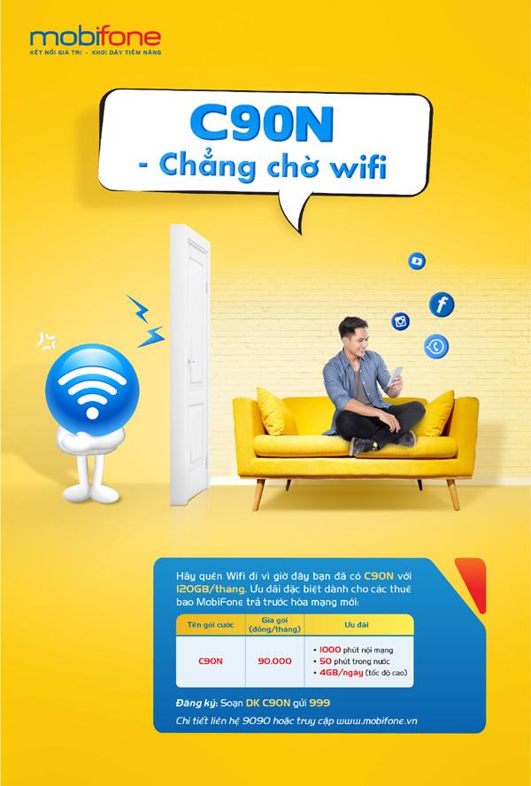 MobiFone: nghe gọi, lướt web thả ga với 90 nghìn đồng/tháng