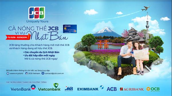 'Cà nóng' thẻ JCB, cơ hội vi vu Nhật Bản