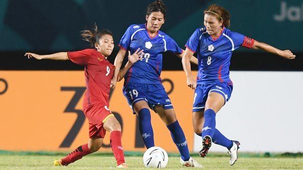 Nữ Đài Loan,Nữ việt Nam,Việt Nam vs Đài Loan,Asiad 2018,trực tiếp bóng đá