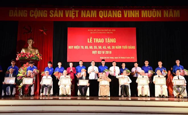 huy hiệu Đảng,Bí thư Hà Nội,Hoàng Trung Hải,Phạm Quang Nghị