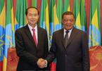 Chủ tịch nước kết thúc chuyến thăm Ethiopia, lên đường thăm Ai Cập