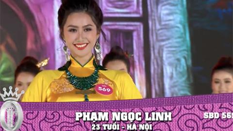 Phần thi áo dài - Hoa hậu Việt Nam 2018