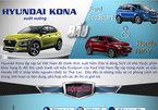 Ô tô SUV nhỏ giá rẻ: Hyundai Kona đấu Honda HR-V và Ford EcoSport