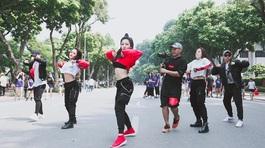 Hot girl Trâm Anh nhảy cực sung trên phố đi bộ