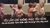 Thả tim 'ầm ầm' với hành động cực dễ thương của bốn bé sinh bốn