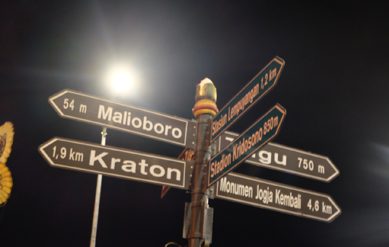 Bảng chỉ đường của Jogja