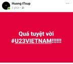 Dân mạng 'lên đồng' trước chiến thắng của đội tuyển U23 Việt Nam