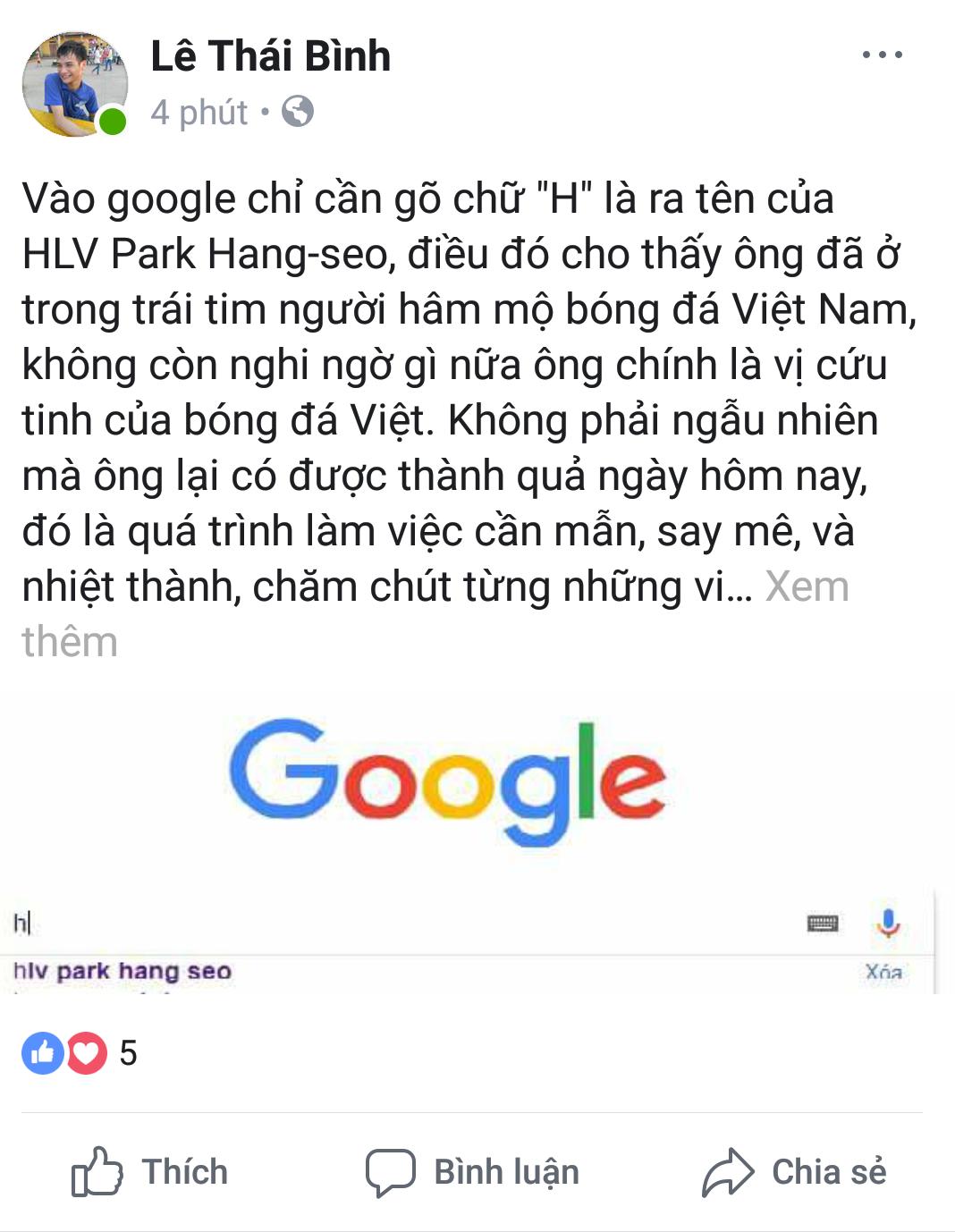 Người hâm mộ không quên cảm ơn vị HLV của U23 Việt Nam