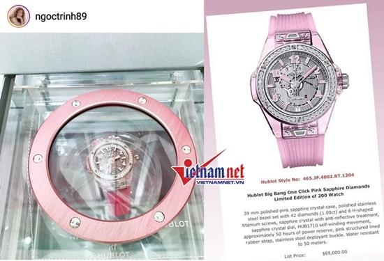 Á hậu Tú Anh được chồng tặng đồng hồ tiền tỷ
