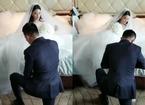 Soái ca đặc công quỳ gối xỏ giày cho Trương Hinh Dư trong đám cưới