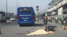 Xe buýt Sài Gòn cán chết người phụ nữ trên xa lộ