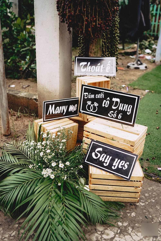 hình ảnh trang trí đáng yêu trong đám cưới