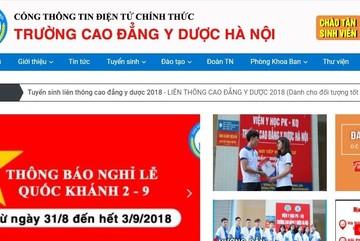 """Trường CĐ Y Dược Hà Nội tuyển sinh """"chui"""""""