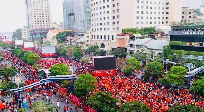 U23 Việt Nam,phố đi bộ Nguyễn Huệ,cấm xe