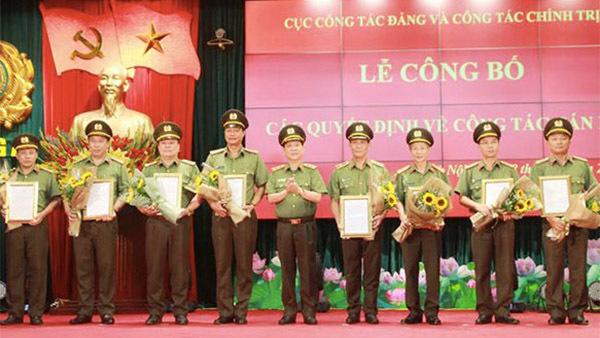 Điều động, bổ nhiệm nhiều tướng lĩnh Công an