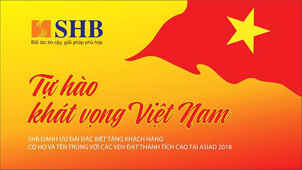 SHB ưu đãi khách hàng cùng tên VĐV đạt giải ASIAD 2018