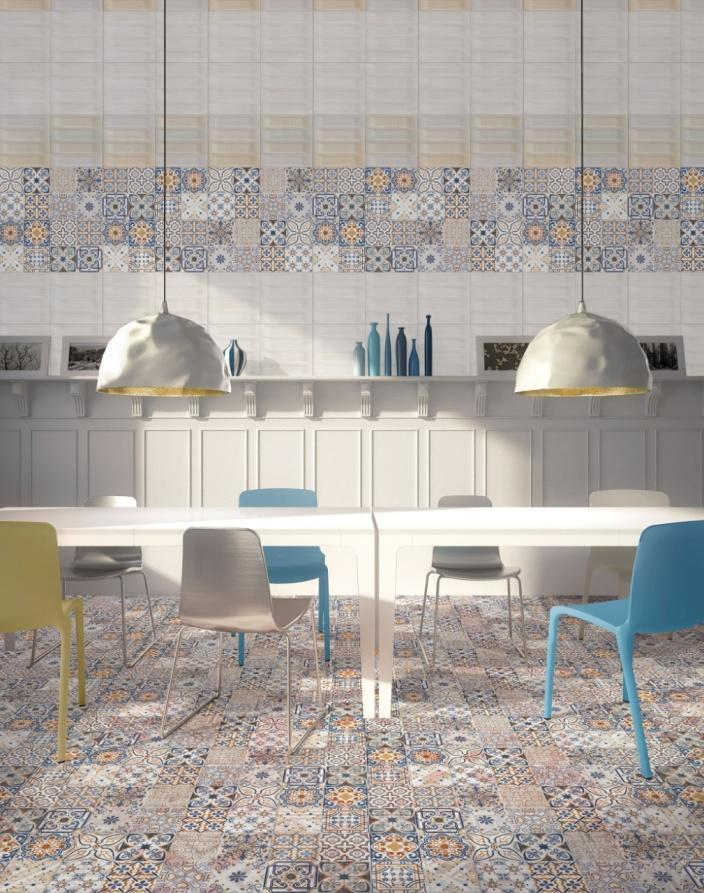 Làm mới không gian bếp bằng gạch ốp lát