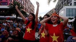 Huyền My, Mỹ Linh mãn nguyện khi Minh Vương U23 VN ghi bàn