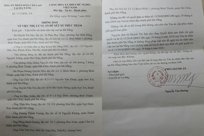 Đà Nẵng,Võ Phi Nhật Huy,tranh chấp tài sản