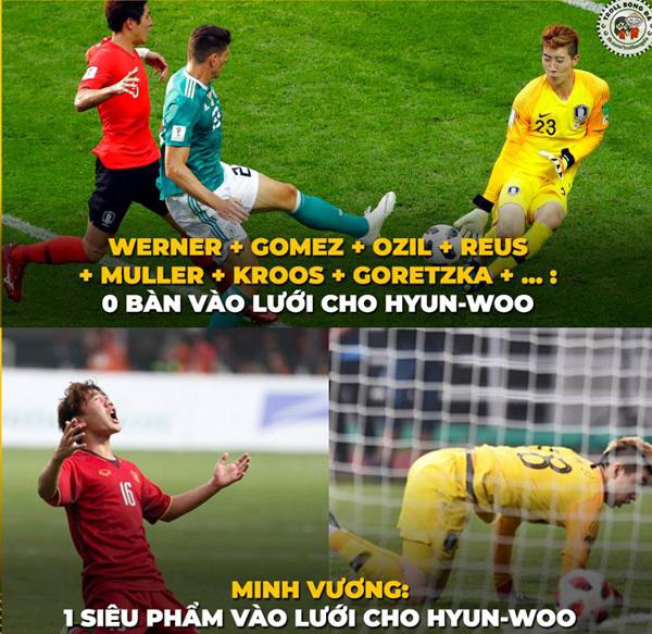 Cư dân mạng chế ảnh chia buồn với U23 Olympic Việt Nam