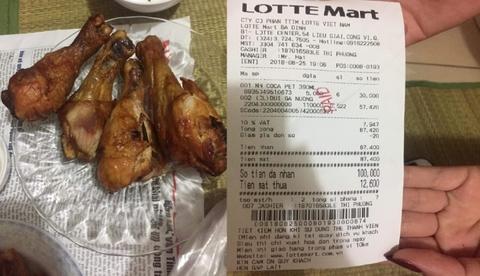 Bị tố mua phải đùi gà thối, nhân viên Lotte cãi chày cối rồi lại nhận lỗi