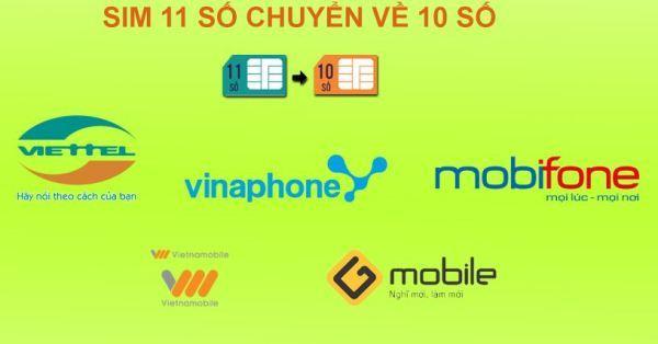Viễn thông,Chuyển đổi mã mạng,Chuyển đổi SIM 11 số,Viettel,VinaPhone,MobiFone